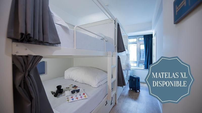 Chambre de 4 lits réservée aux filles