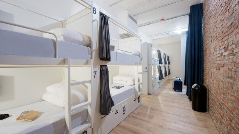 10-bed shared room