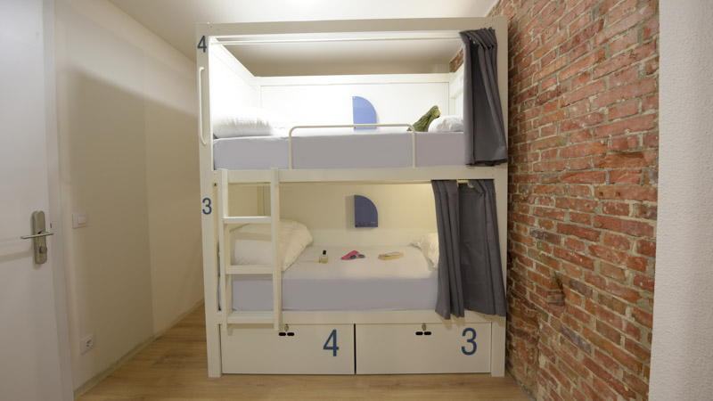 6-bed female shared room