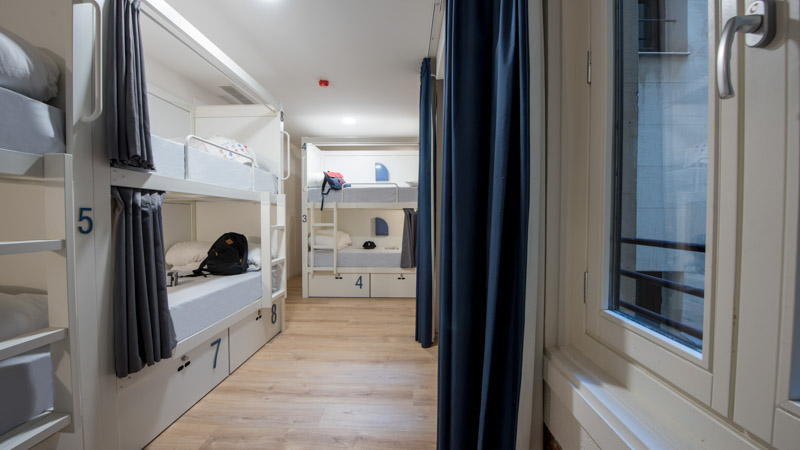8-bed female shared room