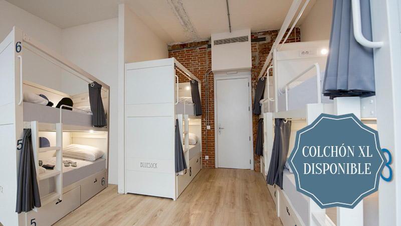 Habitación compartida de 8 camas